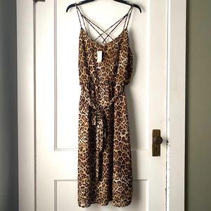💛Maurices Cheetah Print Maxi Dress- Sz L